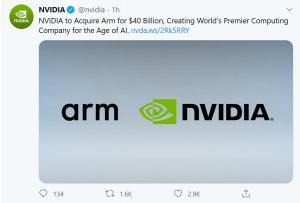Nvidia、ARM两大芯片巨头欲合并,对中国科技界的影响超乎想象